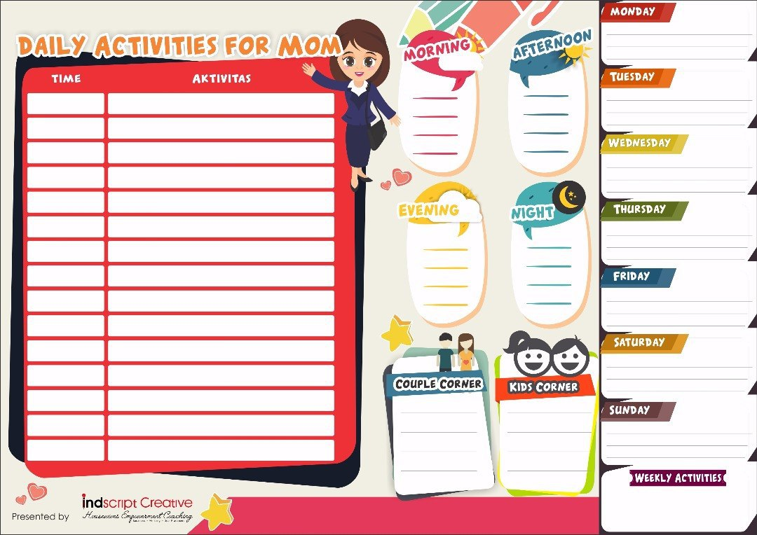 DAILY ACTIVITIES BOARD